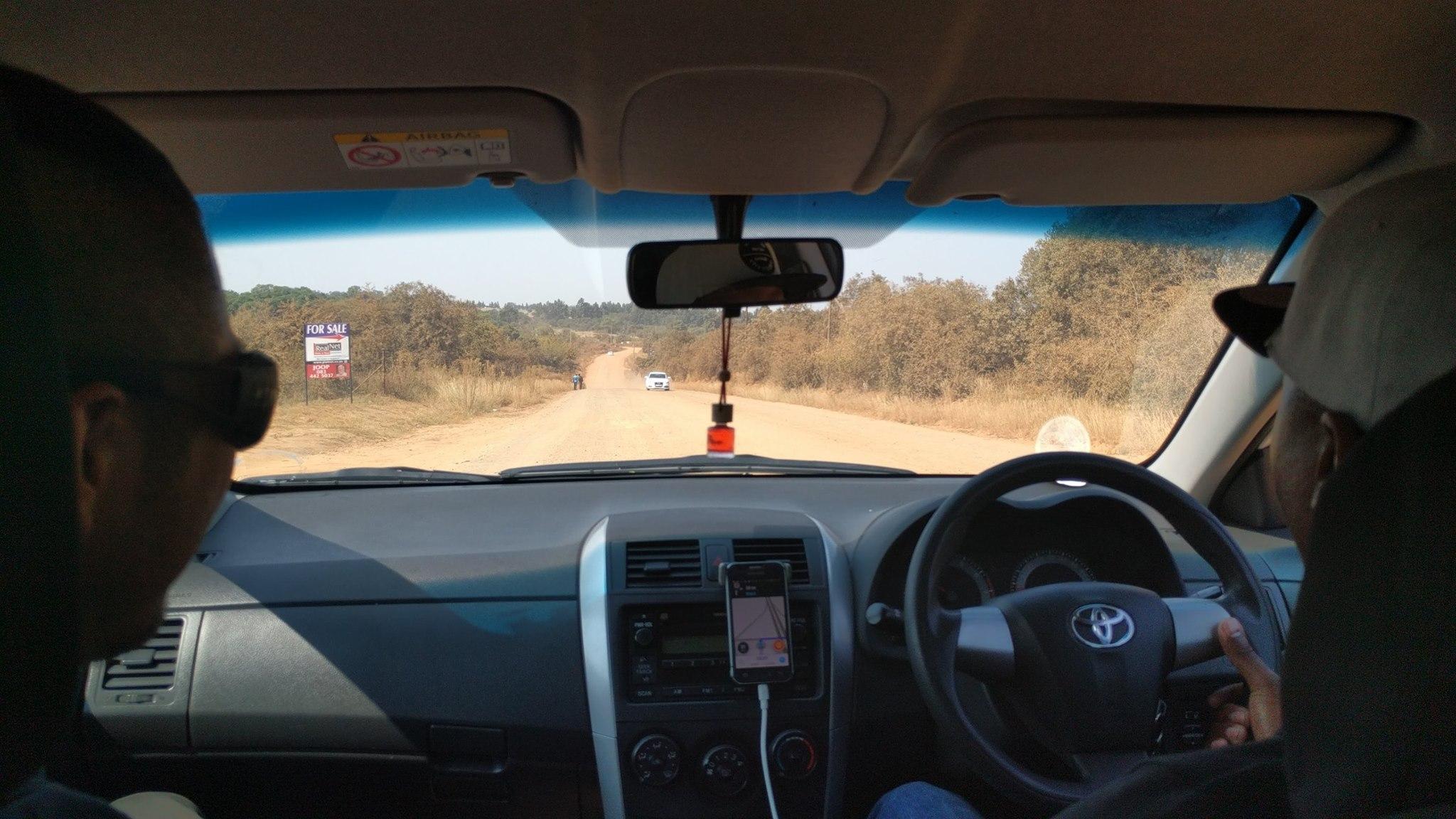 南アフリカ・ヨハネスブルグの道路