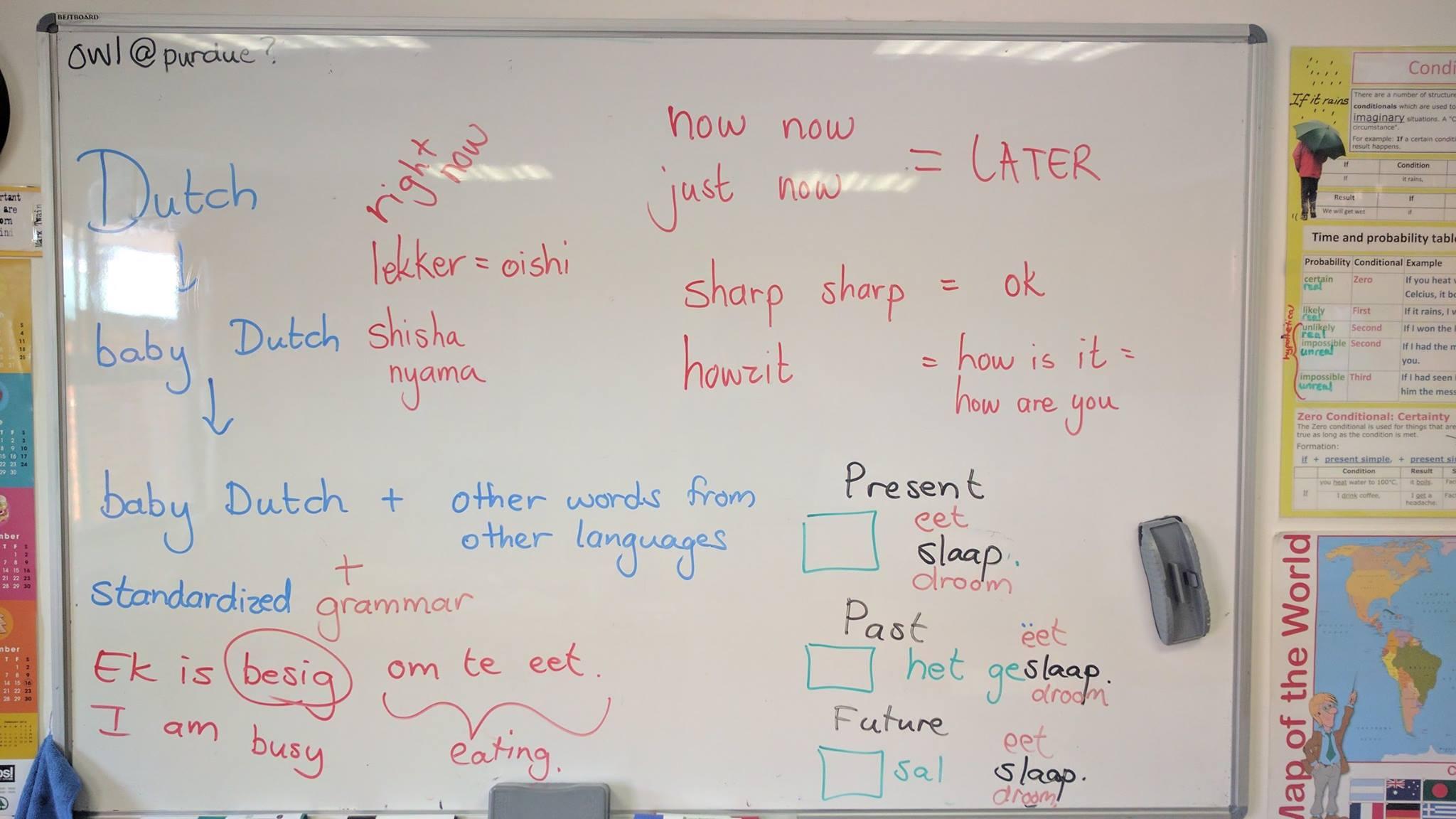 語学学校で南アフリカ英語を勉強