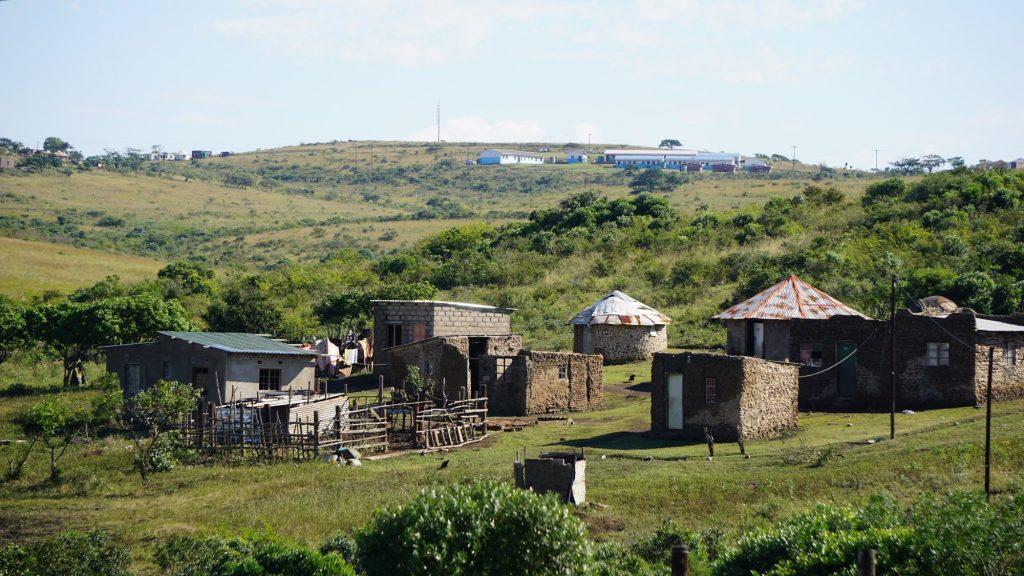 南アフリカの田舎の村にて