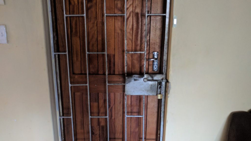 南アフリカの私の家の玄関