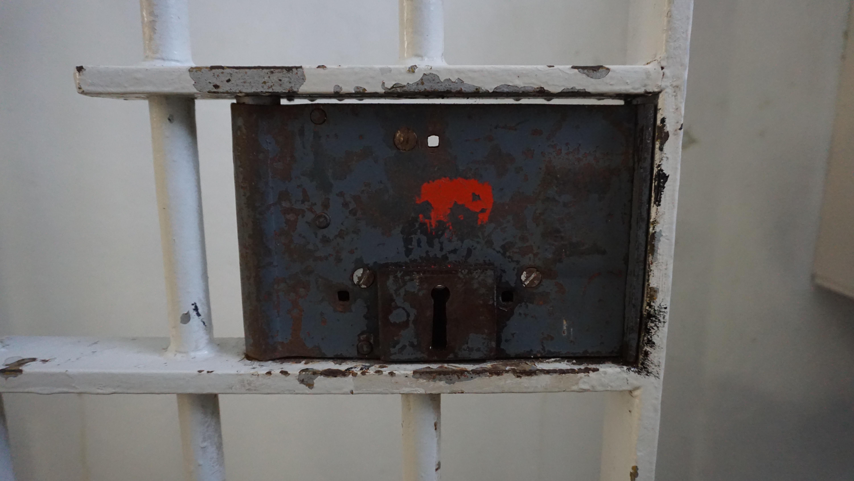 ロベン島の牢屋の鍵穴