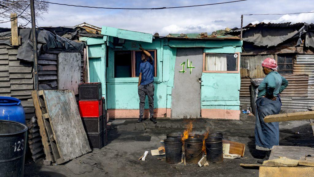 南アフリカタウンシップの写真