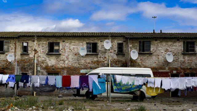 南アフリカケープタウンのタウンシップ
