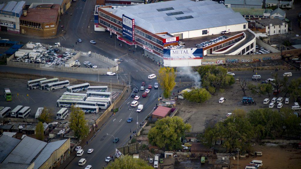 南アフリカ・ヨハネスブルグの街並み