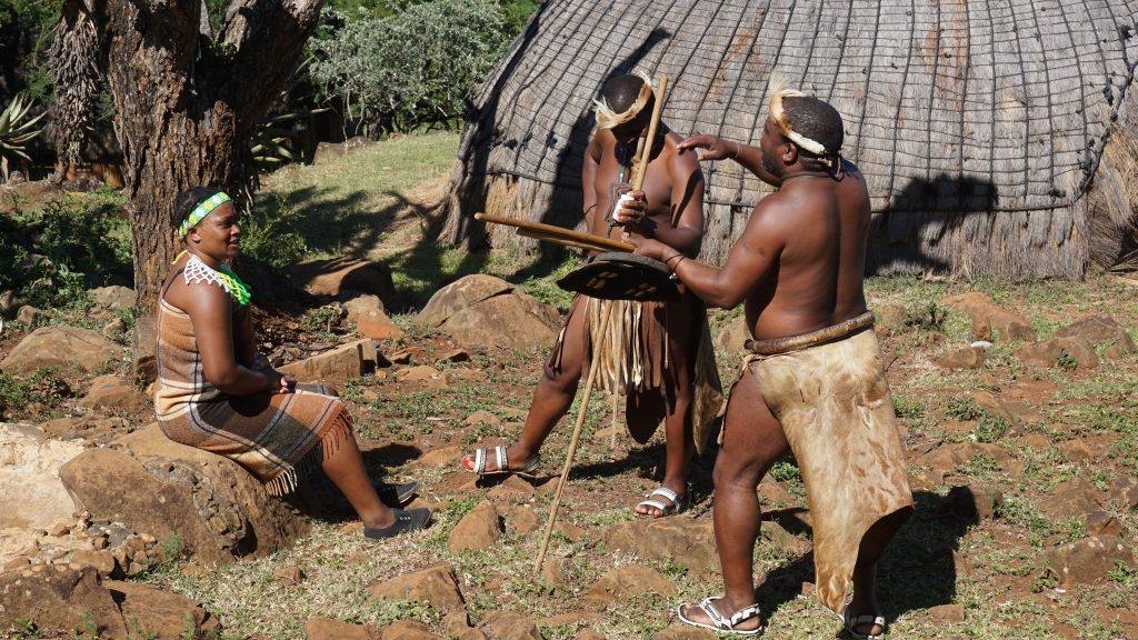 ズールー族のナンパの様子
