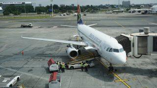 ヨハネスブルグ国際空港の飛行機