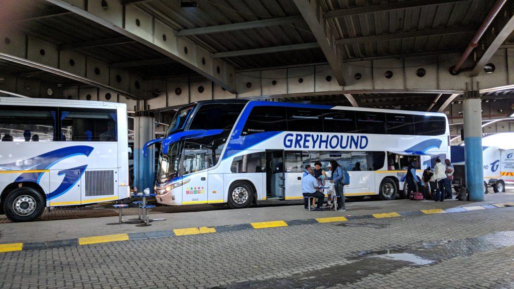 ヨハネスブルグの長距離バス会社「Greyhound」