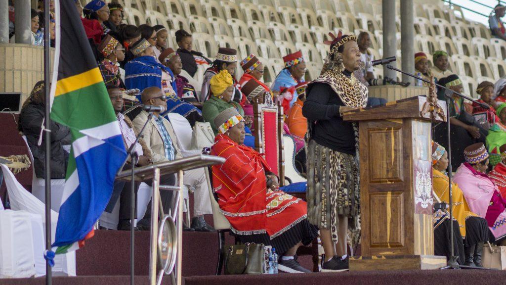 ズールー国王のズールー語のスピーチ