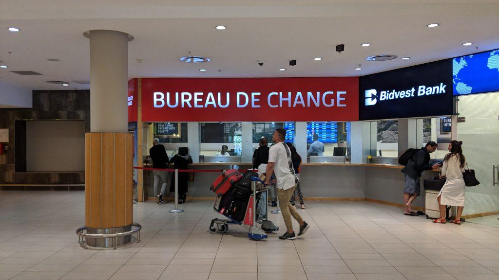 ケープタウン国際空港の両替所