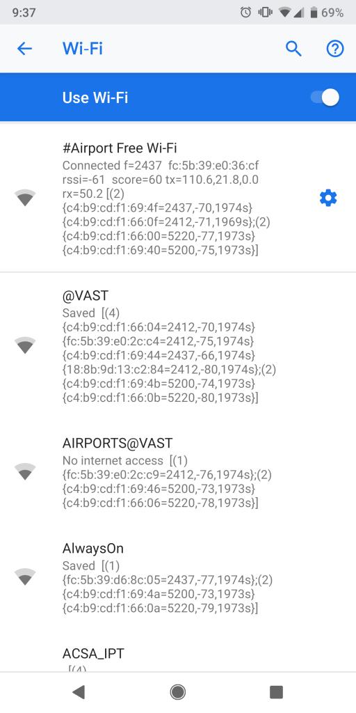 ケープタウン国際空港のWiFiフリースポットは三つ
