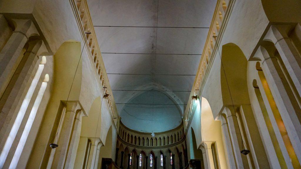 タンザニア・ザンジバルの世界遺産の街ストーンタウンにあった教会内観