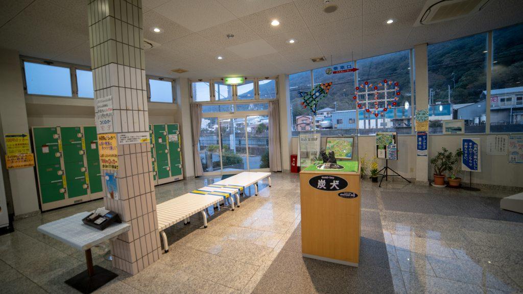 下田ロープウェイの待合室