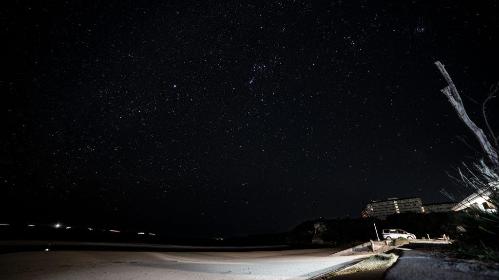 2018年ふたこ座流星群でみた流星群の写真