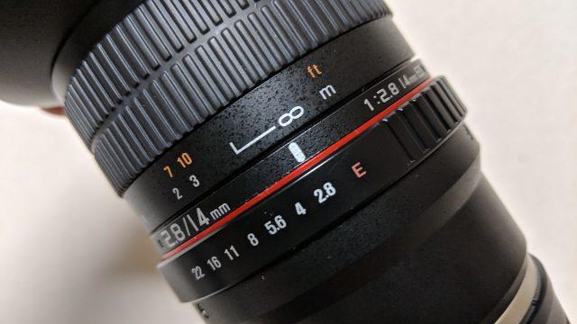 SAMYANG 単焦点広角レンズの設定
