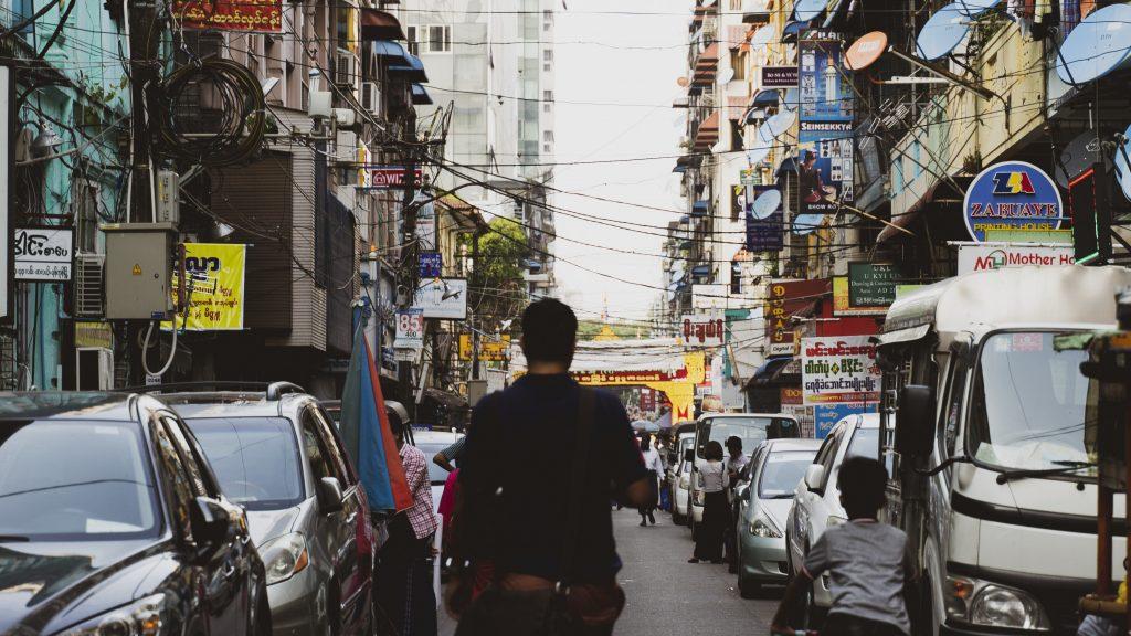 【ミャンマー】ヤンゴン市内の街並み