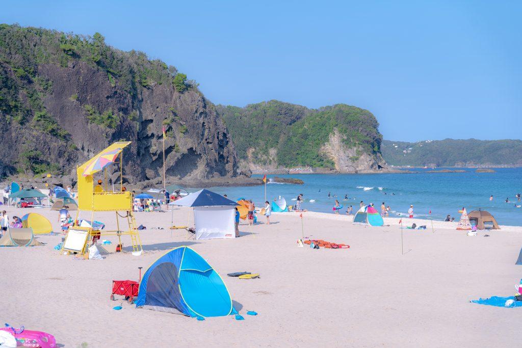 伊豆下田・水質AAクラスの入田浜海水浴場