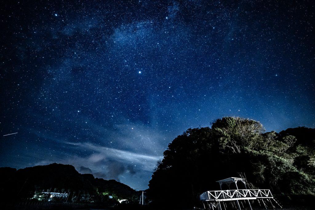 これが伊豆下田(田舎)で眺める星空です