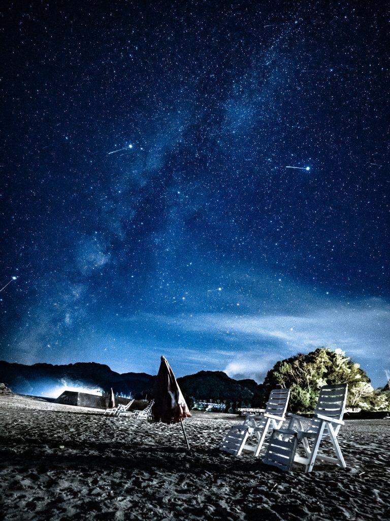 伊豆下田では流星群の時期でなくとも流れ星を眺められる