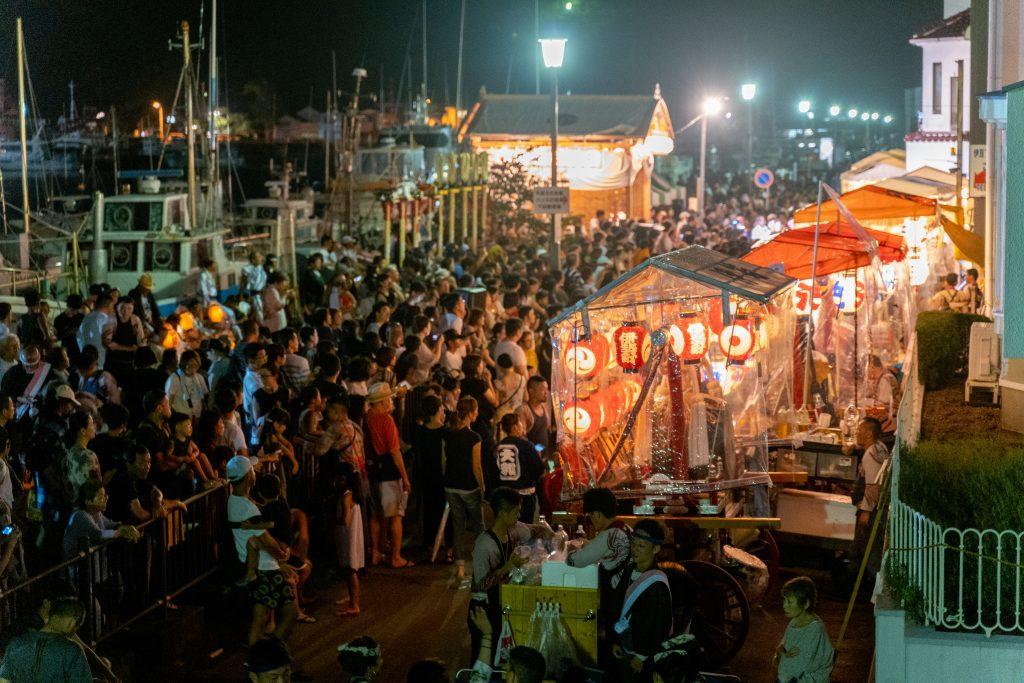 「下田太鼓祭り2019」夜の様子