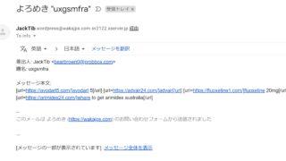 【WordPress】外国語の迷惑メール解決方法【コンタクトフォーム7】